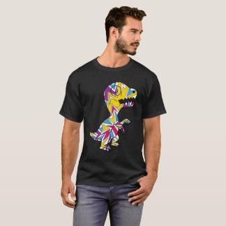 Rainbow Rex Retro Theme T-Shirt