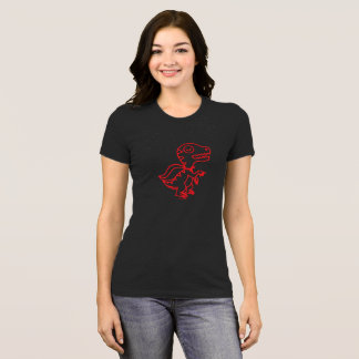 Rainbow Rex Tee: Red T-Shirt
