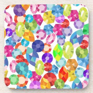 rainbow rhinestones coaster