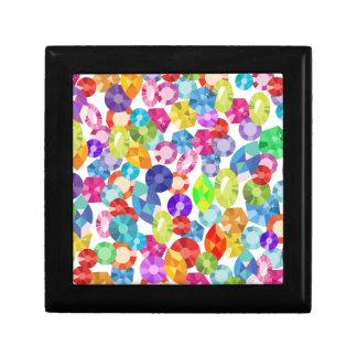rainbow rhinestones gift box