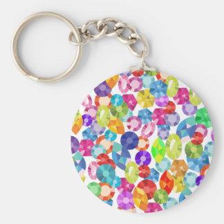 rainbow rhinestones keychain