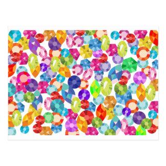 rainbow rhinestones postcard