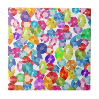 rainbow rhinestones tile