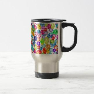 rainbow rhinestones travel mug