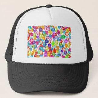rainbow rhinestones trucker hat