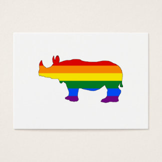 Rainbow Rhinoceros Business Card