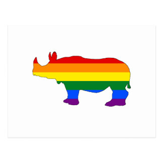 Rainbow Rhinoceros Postcard