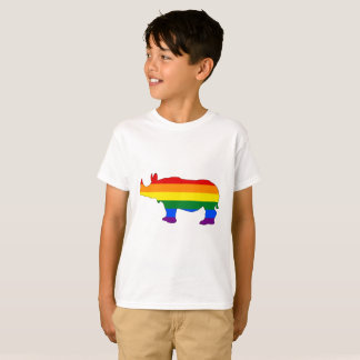 Rainbow Rhinoceros T-Shirt