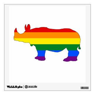 Rainbow Rhinoceros Wall Sticker