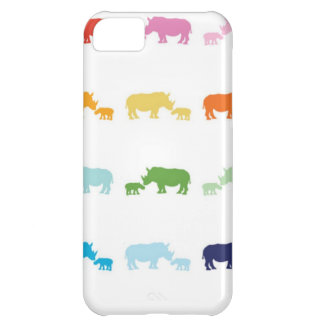 Rainbow Rhinos Case For iPhone 5C