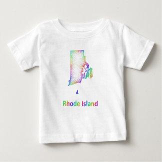 Rainbow Rhode Island map Baby T-Shirt