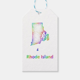 Rainbow Rhode Island map Pack Of Gift Tags