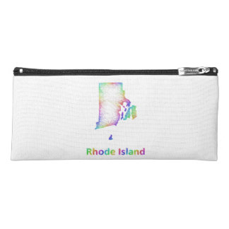 Rainbow Rhode Island map Pencil Case