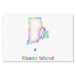 Rainbow Rhode Island map Tissue Paper