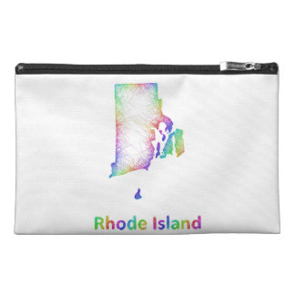 Rainbow Rhode Island map Travel Accessory Bag