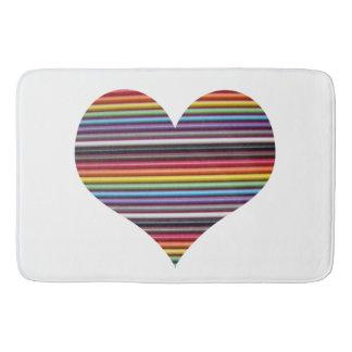 Rainbow Ribbon Cable Bathroom Mat
