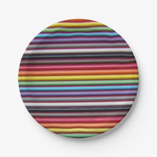 Rainbow Ribbon Cable Paper Plate