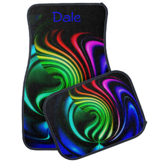 Rainbow Ribbons Car Mats *Personalize*