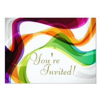 Rainbow Ribbons Wedding Invitation - 1-Special