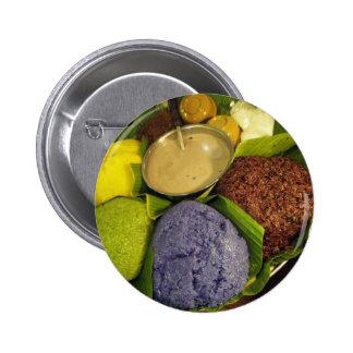 'Rainbow Rice' Chiang Mai, Thailand Pinback Button
