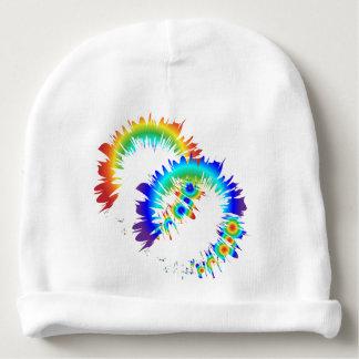 rainbow rings baby beanie