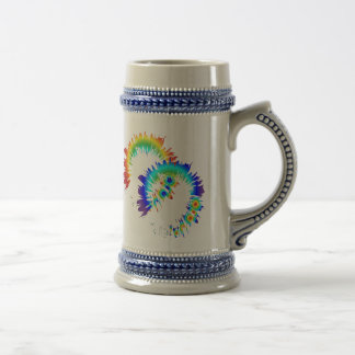 rainbow rings beer stein