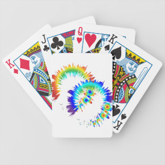 rainbow rings bicycle playing cards