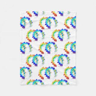 rainbow rings fleece blanket