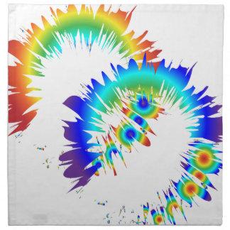 rainbow rings napkin