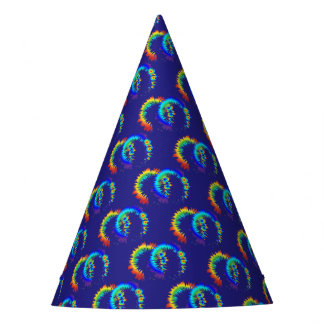 rainbow rings party hat
