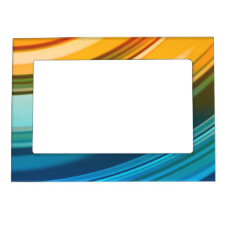 """Rainbow Ripples 5""""x7"""" Magnet Picture Frame Frame Magnet"""