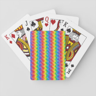 Rainbow Ripples Playing Cards