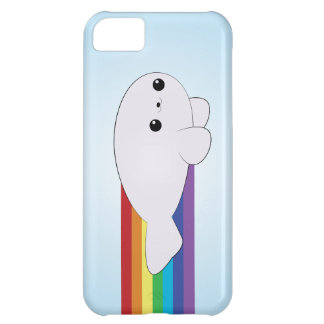 Rainbow Rocket Baby Seal iPhone Case