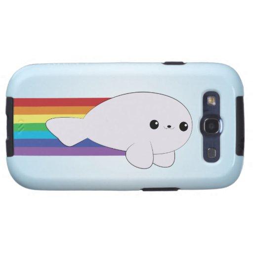 Rainbow Rocket Baby Seal Kawaii Samsung Galaxy Galaxy SIII Cases
