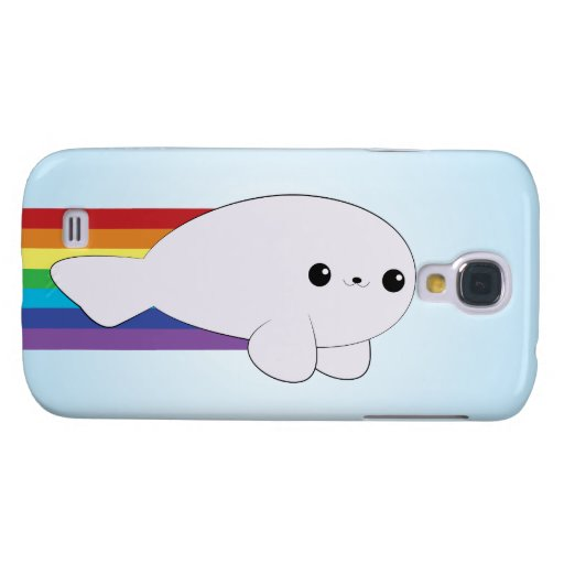 Rainbow Rocket Seal Kawaii HTC Vivid Case