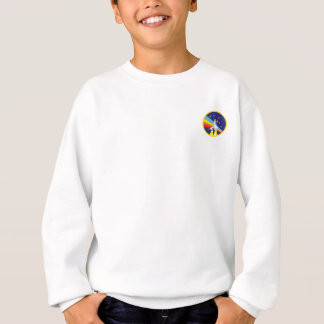 Rainbow Rocket Shuttle for the Nerd Geeks Sweatshirt
