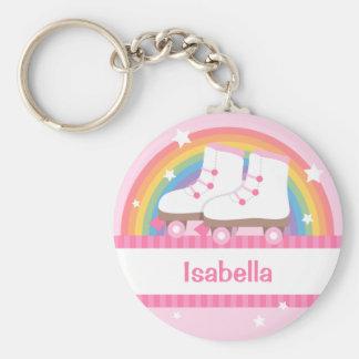 Rainbow Roller Skates For Girls Keychain