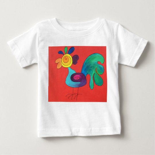 Rainbow Rooster Baby T-Shirt