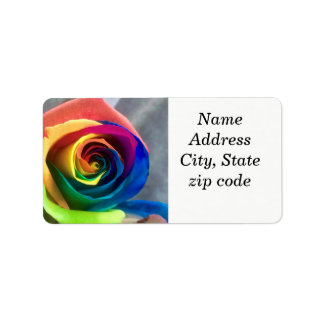 Rainbow rose address labels