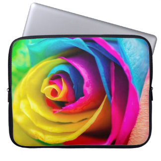 Rainbow Rose Computer Sleeves