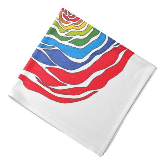 Rainbow Rose Handkerchief Bandana