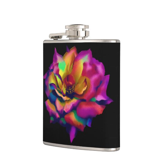 Rainbow Rose Hip Flask