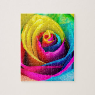 Rainbow Rose Jigsaw Puzzle
