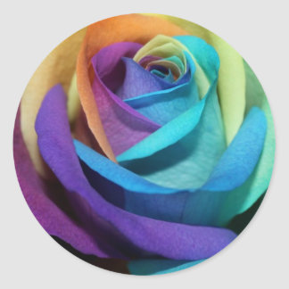 Rainbow Rose Love Flower Miss-you Peace Destiny Round Sticker