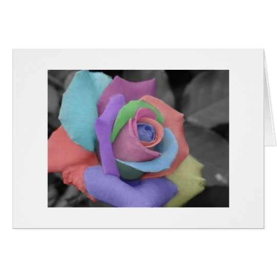 Rainbow Rose Notecard. Card