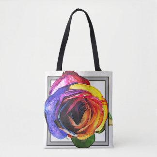 Rainbow Rose Tote