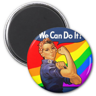 Rainbow Rosie Fridge Magnets