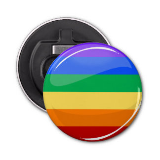 Rainbow Round LGBT Flag Bottle Opener