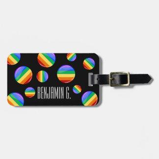 Rainbow Round LGBT Flag Luggage Tag
