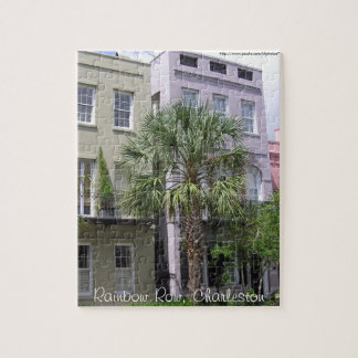 Rainbow Row, Charleston Jigsaw Puzzle